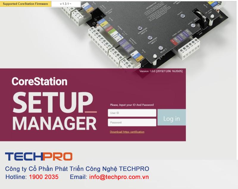 CoreStation SETUP Manager Trình quản lý cấu hình hệ thống kiểm soát an ninh