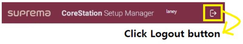 Trình quản lý cấu hình hệ thống kiểm soát an ninh CoreStation SETUP Manager