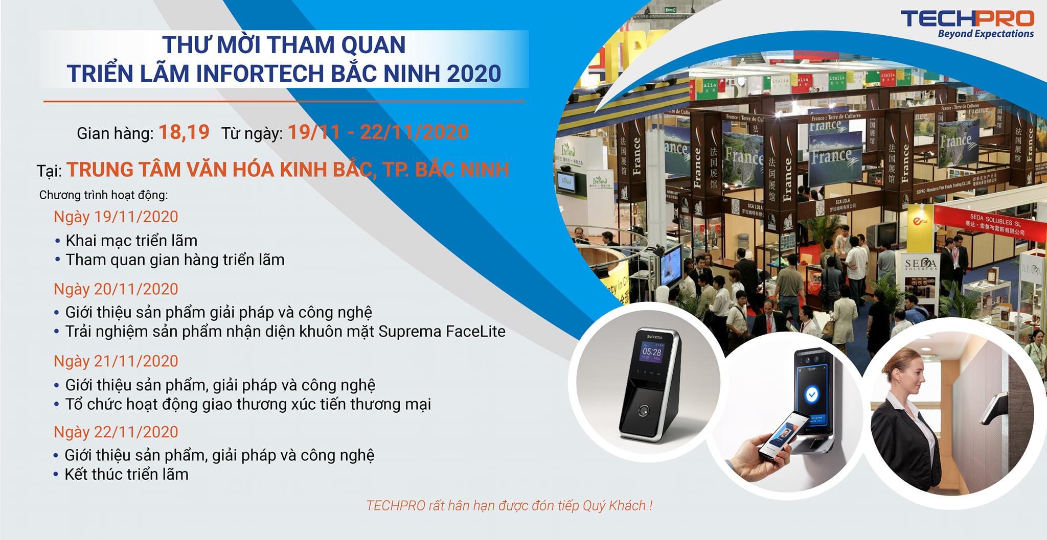 TECHPRO - Thư mời tham quan Triển lãm Công nghiệp điện tử, viễn thông, công nghệ thông tin - Infortech Bắc Ninh 2020